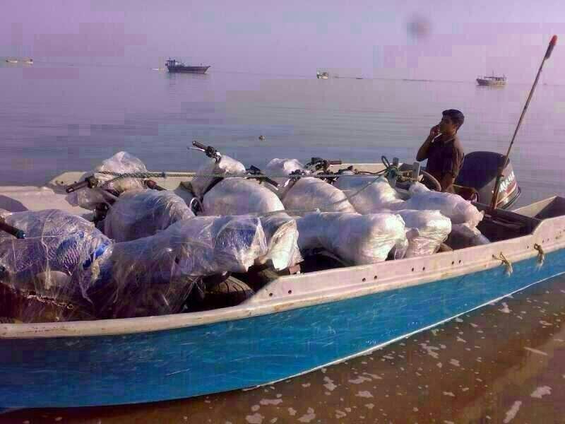 گزارش تصویری قایق های قاچاق کالای قشم