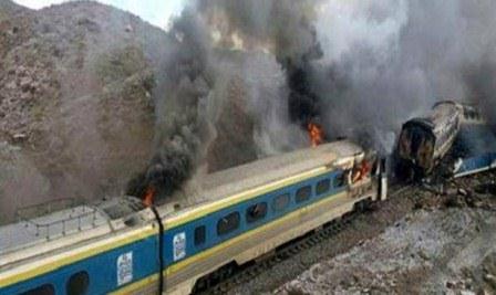 حادثه برخورد دو قطار