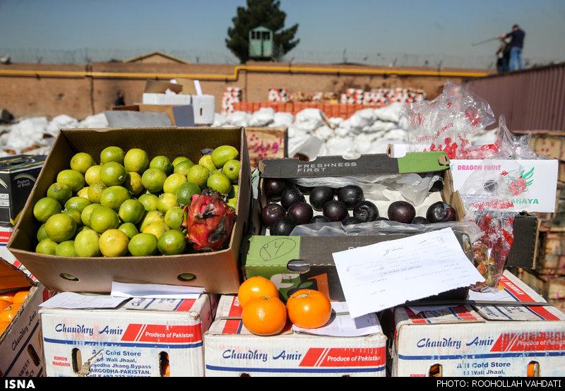کشف ۱۵۰۰ تن میوه قاچاق